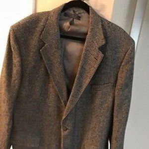 BROOKS BROTHERS 100% Camel Hair Houndstooth Blazer
